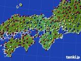 2020年06月20日の近畿地方のアメダス(日照時間)