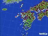 九州地方のアメダス実況(日照時間)(2020年06月20日)