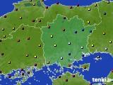 岡山県のアメダス実況(日照時間)(2020年06月20日)