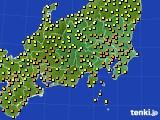 2020年06月20日の関東・甲信地方のアメダス(気温)