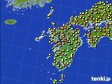 2020年06月20日の九州地方のアメダス(気温)