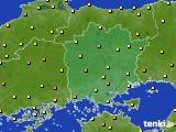 岡山県のアメダス実況(気温)(2020年06月20日)