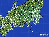 2020年06月20日の関東・甲信地方のアメダス(風向・風速)