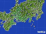 2020年06月20日の東海地方のアメダス(風向・風速)