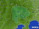 2020年06月20日の山梨県のアメダス(風向・風速)