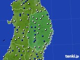 2020年06月20日の岩手県のアメダス(風向・風速)