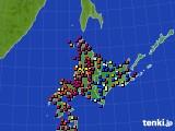 2020年06月21日の北海道地方のアメダス(日照時間)