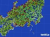 関東・甲信地方のアメダス実況(日照時間)(2020年06月21日)