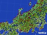 北陸地方のアメダス実況(日照時間)(2020年06月21日)