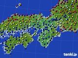 2020年06月21日の近畿地方のアメダス(日照時間)