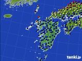 九州地方のアメダス実況(日照時間)(2020年06月21日)