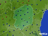 2020年06月21日の栃木県のアメダス(日照時間)