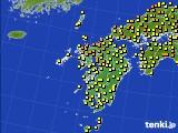 2020年06月21日の九州地方のアメダス(気温)