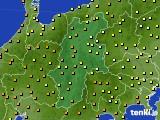 長野県のアメダス実況(気温)(2020年06月21日)