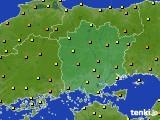 2020年06月21日の岡山県のアメダス(気温)