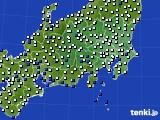 関東・甲信地方のアメダス実況(風向・風速)(2020年06月21日)