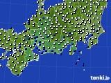 東海地方のアメダス実況(風向・風速)(2020年06月21日)