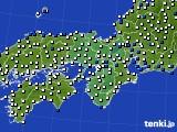 2020年06月21日の近畿地方のアメダス(風向・風速)