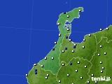 2020年06月21日の石川県のアメダス(風向・風速)