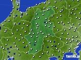 長野県のアメダス実況(風向・風速)(2020年06月21日)