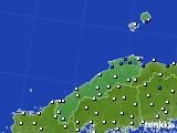 2020年06月21日の島根県のアメダス(風向・風速)