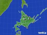 2020年06月22日の北海道地方のアメダス(降水量)