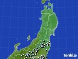 東北地方のアメダス実況(降水量)(2020年06月22日)