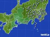 2020年06月22日の東海地方のアメダス(降水量)