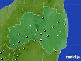福島県のアメダス実況(降水量)(2020年06月22日)