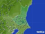 茨城県のアメダス実況(降水量)(2020年06月22日)