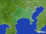 神奈川県のアメダス実況(降水量)(2020年06月22日)