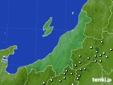 新潟県のアメダス実況(降水量)(2020年06月22日)