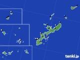 沖縄県のアメダス実況(降水量)(2020年06月22日)