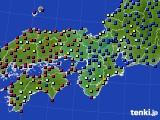 近畿地方のアメダス実況(日照時間)(2020年06月22日)