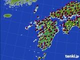 九州地方のアメダス実況(日照時間)(2020年06月22日)