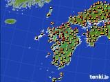 九州地方のアメダス実況(気温)(2020年06月22日)