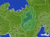 2020年06月22日の滋賀県のアメダス(気温)