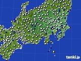 2020年06月22日の関東・甲信地方のアメダス(風向・風速)