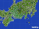 2020年06月22日の東海地方のアメダス(風向・風速)