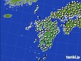 九州地方のアメダス実況(風向・風速)(2020年06月22日)