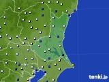 茨城県のアメダス実況(風向・風速)(2020年06月22日)