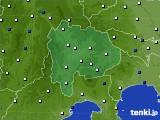 2020年06月22日の山梨県のアメダス(風向・風速)