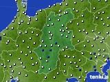 2020年06月22日の長野県のアメダス(風向・風速)