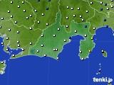 2020年06月22日の静岡県のアメダス(風向・風速)