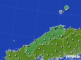 2020年06月22日の島根県のアメダス(風向・風速)