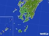 鹿児島県のアメダス実況(風向・風速)(2020年06月22日)