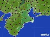 三重県のアメダス実況(日照時間)(2020年06月23日)
