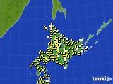 2020年06月23日の北海道地方のアメダス(気温)
