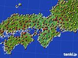 2020年06月23日の近畿地方のアメダス(気温)