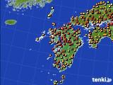 九州地方のアメダス実況(気温)(2020年06月23日)